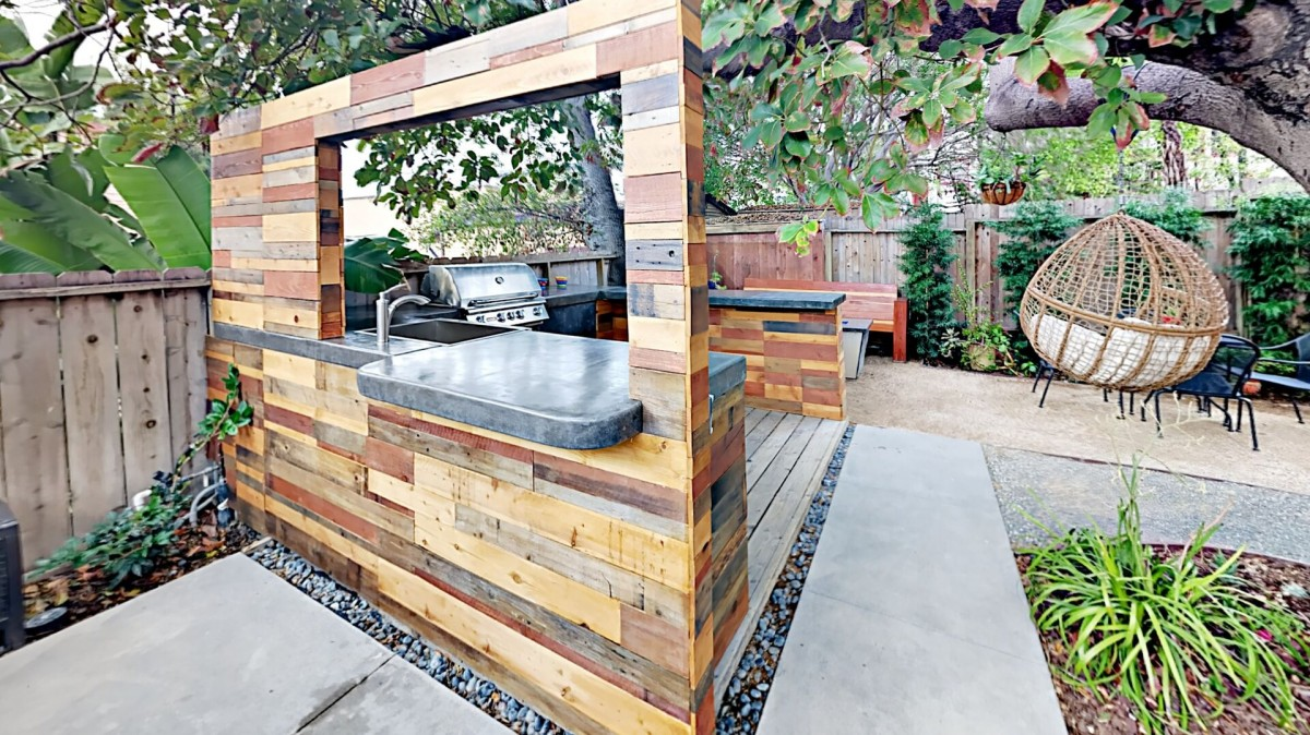 Shared Backyard with Brand New Jacuzzi Outdoor Kitchen with Built in BBQ, Fire pit, shared laundry, private deck.